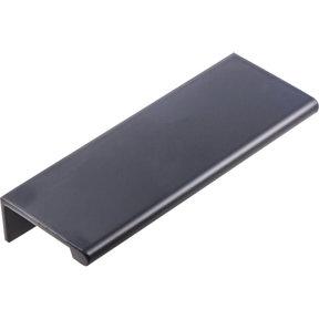 Edgefield Tab Pull, 76 mm C/C, Matt Black/Black