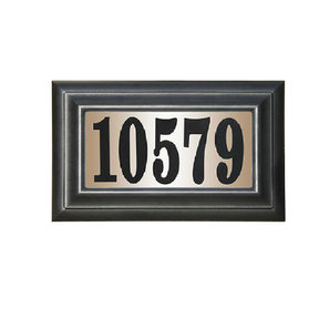 """Edgewood Classic """"Do it yourself kit"""" Polymer Frame Lighted Address Plaque"""