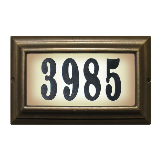 """View a Larger Image of Edgewood Large """"Do it yourself kit"""" Lighted Address Plaque in Oil Rub Bronze Frame Color"""