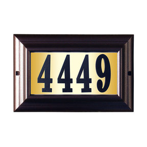 """Edgewood Large """"Do it yourself kit"""" Lighted Address Plaque with LED LIGHTS in Antique Copper Frame Color"""