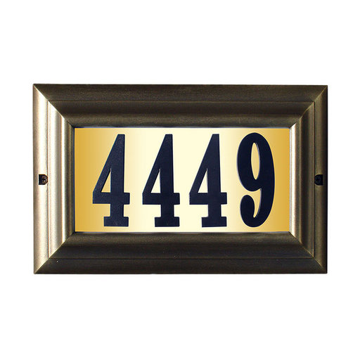 """View a Larger Image of Edgewood Large """"Do it yourself kit"""" Lighted Address Plaque with LED LIGHTS in French Bronze Frame Color"""
