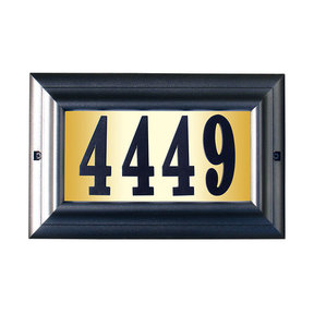 """Edgewood Large """"Do it yourself kit"""" Lighted Address Plaque with LED LIGHTS in Pewter Frame Color"""