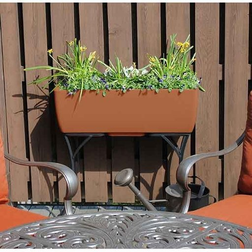 """View a Larger Image of Elevated Urban Planter with Stand, 36"""" x 15"""", Terra Cotta"""