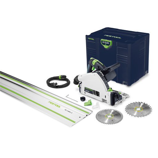 """View a Larger Image of Emerald Edition TS 55 REQ-F-Plus Plunge Cut Saw with 55"""" Rail"""