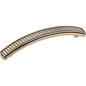 Encada Wave Pull, 96 mm C/C,  Distressed Antique Brass