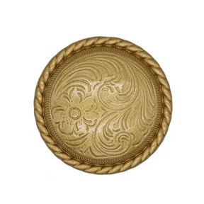 Engraved Flower Knob, Lux Gold