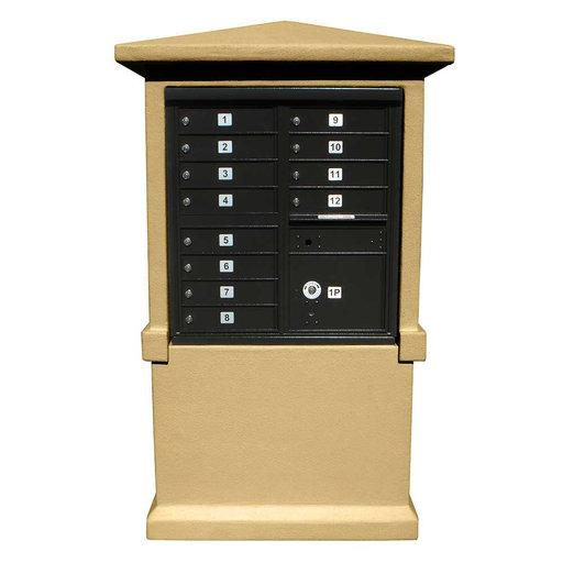 View a Larger Image of Estateview stucco CBU Mailbox Center, TALL pedestal (column