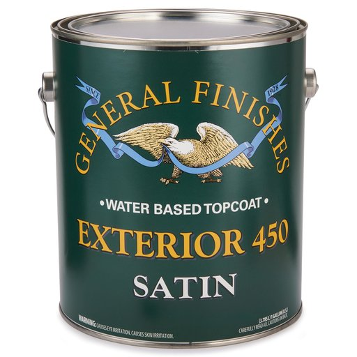View a Larger Image of Satin Exterior 450 Varnish Water Based Gallon