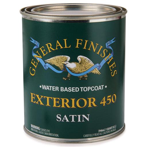 View a Larger Image of Satin Exterior 450 Varnish Water Based Quart