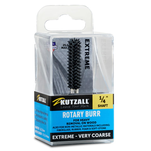 """View a Larger Image of Extreme Ball Nose Burr, 1/8"""" Shaft, Very Coarse (1/4"""" x 1/2"""")"""