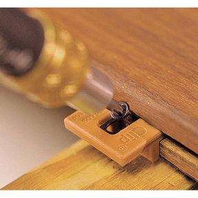 Extreme Ipe Clip Hidden Deck Fastener Kit, (175 pack), Brown