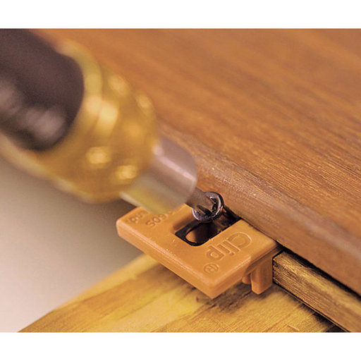 View a Larger Image of Extreme4 Ipe Clip Hidden Deck Fastener Kit, (525 pc), Brown