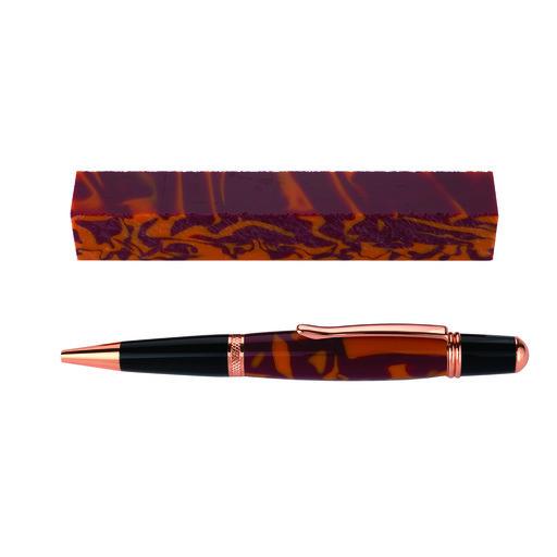 View a Larger Image of Fan Favorite Acrylic Pen Blank Maroon & Orange