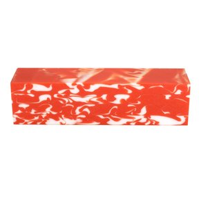 "Fan Favorite Acrylic Turning Stock Orange & White 1-1/2"" x 1-1/2"" x 6"""