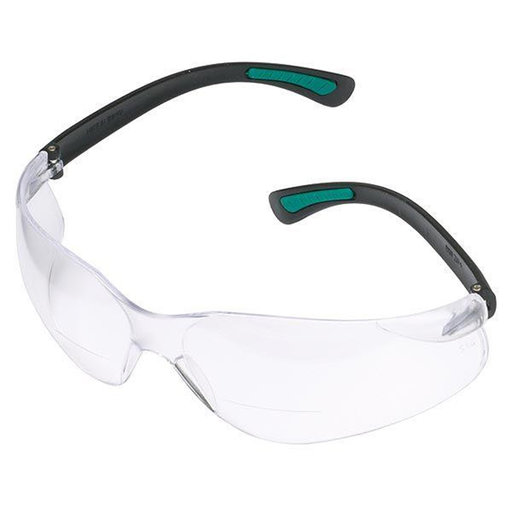 View a Larger Image of Magnifying Bifocal Safety Glasses 1.5 Diopter