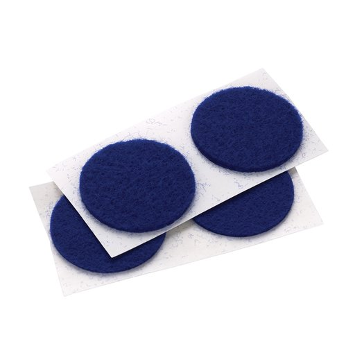 """View a Larger Image of Felt Dot, Self-Adhesive, Blue 1"""" dia. 18-piece"""