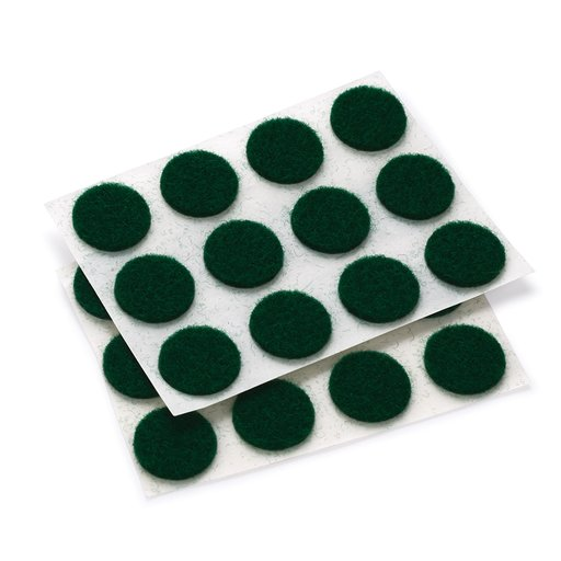 """View a Larger Image of Felt Dot, Self-Adhesive, Green 1/2"""" dia. 40-piece"""