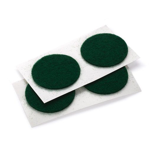 """View a Larger Image of Felt Dot, Self-Adhesive, Green 1"""" dia. 18-piece"""