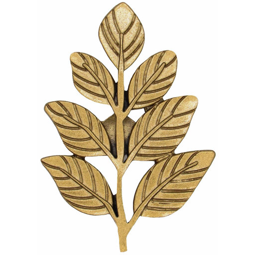 View a Larger Image of Fern Leaf Knob Lux Gold