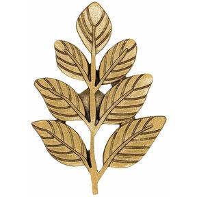 Fern Leaf Knob Lux Gold