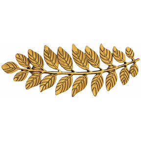 "Fern Leaf Pull 2-15/16"" Center Lux Gold"
