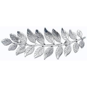 """Fern Leaf Pull 2-15/16"""" Center Nickel"""
