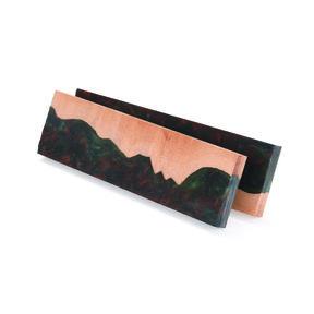 """Onyx Wood and Acrylic Knife Scale - 3/8"""" x 1-1/2"""" x 5"""" - 2 Piece"""