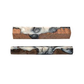 """Fiji Pen Blank - 3/4"""" x 3/4"""" x 5-1/4"""" - Ebony & Ivory"""