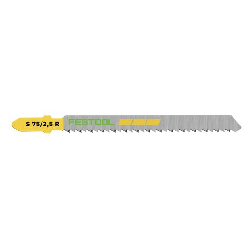 View a Larger Image of Fine Cut Wood Reverse Cut Jigsaw Blade, 75mm L, 2.5 pitch, 5 pack