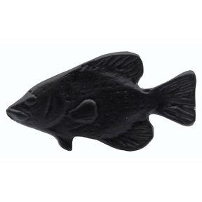 Fish Knob,  Matte Black