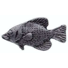 Fish Knob, Pewter Oxide