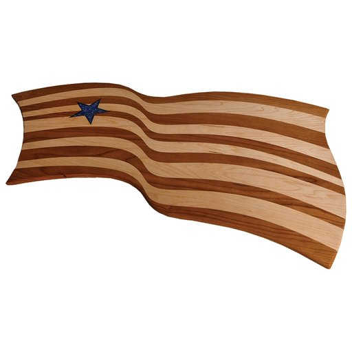 View a Larger Image of Flag Cutting Board Downloadable Plan