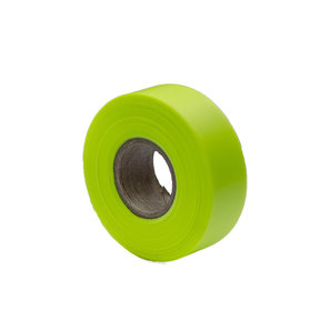 """Flagging Tape Glo Lime 150' X 1-3/16"""" Pack of 12"""