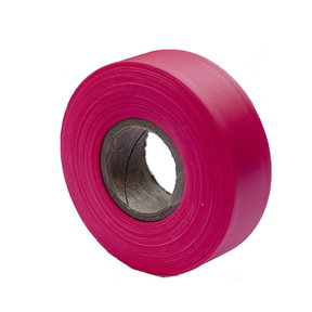 """Flagging Tape Glo Red 150' X 1-3/16"""" Pack of 12"""