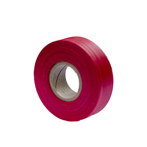 """Flagging Tape Red 300' X 1-3/16"""" Pack of 12"""