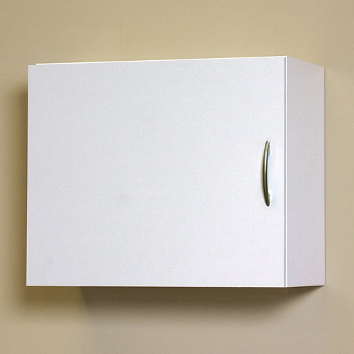 View a Larger Image of Flat Panel Wall Cabinet, White