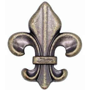 Fleur De Lis Knob Brass Oxide