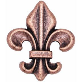 Fleur De Lis Knob Copper Oxide