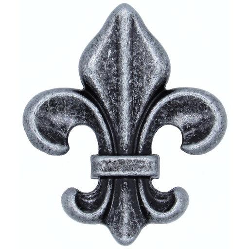 View a Larger Image of Fleur De Lis Knob Pewter Oxide