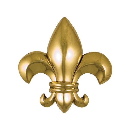 View a Larger Image of Fleur de Lys Door Knocker - Brass