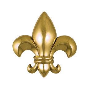 Fleur de Lys Door Knocker - Brass