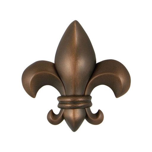 View a Larger Image of Fleur de Lys Door Knocker - Oiled Bronze