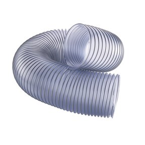 """6"""" x 5-feet Clear Dust Collection Hose"""