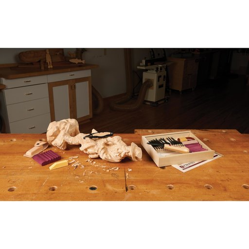 View a Larger Image of Starter Carving Set With FREE Relief Carving DVD