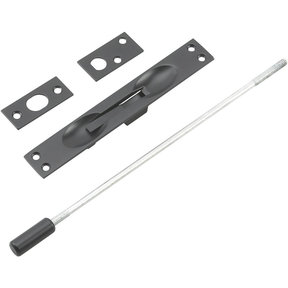"""Flush Bolt for Metal Doors with 12"""" Extension Black"""