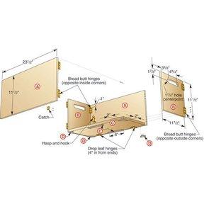 Folding Shop Box - Downloadable Plan