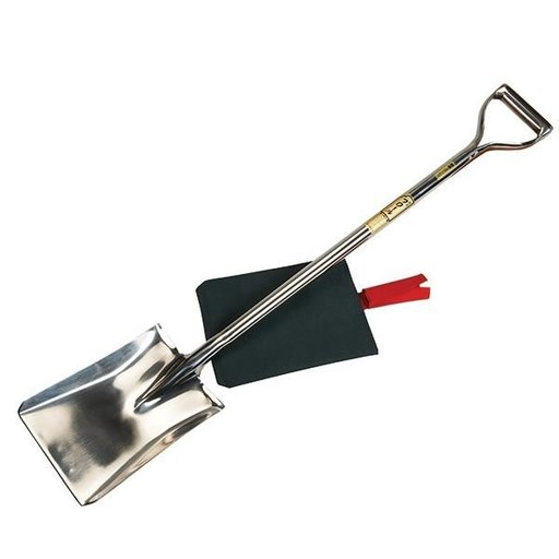 View a Larger Image of Forged Stainless Steel Square Head Shovel 105cm w/cover