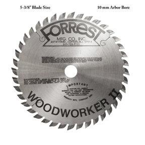 """WW05T407085 Woodworker II Saw Blade, 5-3/8"""" x 40T, 5/64"""" Kerf x 10mm Bore, ATB"""