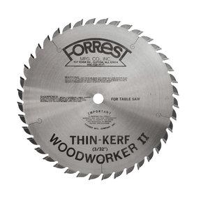 """WW10401100 Woodworker II 10"""" 40T #1 Grind Thin Kerf"""