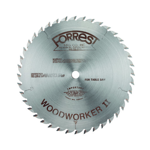 """View a Larger Image of WW10407125 Woodworker II Carbide Tipped Circular Saw Blade 10"""" x 40 Tooth"""